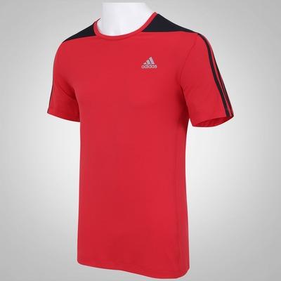 Camiseta com Proteção Solar adidas 3S Poliamida - Masculina