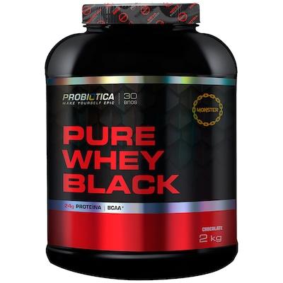 Whey Protein Probiótica Pure Whey Black - Chocolate -2 Kg
