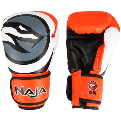 Kit de Boxe Naja: Bandagem + Protetor Bucal + Luvas de Boxe Colors - 10 OZ - Adulto