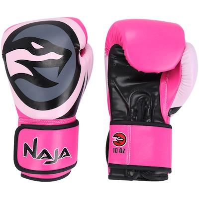 Kit de Boxe Naja: Bandagem + Protetor Bucal + Luvas de Boxe Colors - 10 OZ - Adulto