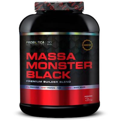 Blend Probiótica Massa Monster Black - Morango - 3Kg