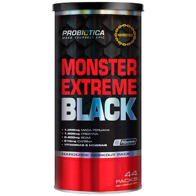 Pack Probiótica Monster Extreme Black - 44 Packs
