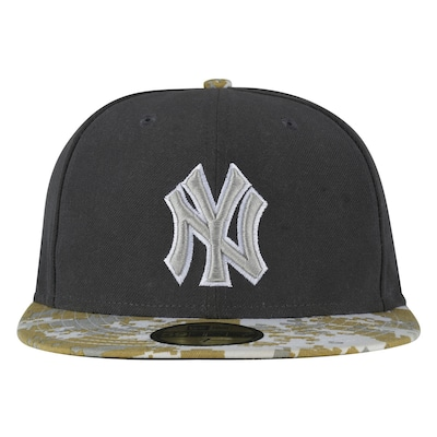Boné Aba Reta New Era New York Yankees Cinza - Fechado - Adulto