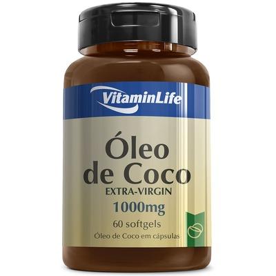 Óleo de Coco VitaminLife Extra-Virgin - 60 Cápsulas em Gel