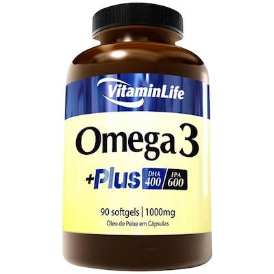 Óleo de Peixe VitaminLife Ômega 3 + Plus - 90 Cápsulas em Gel