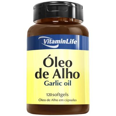 Óleo de Alho VitaminLife Garlic Oil - 120 Cápsulas em Gel
