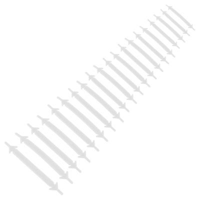 Cadarço de Silicone Pull E Lock Sem Laço - 20 Unidades