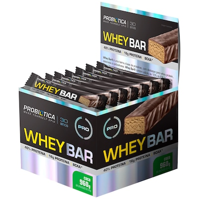 Barra de Proteína Probiótica Whey Bar - Coco - 24 Unidades