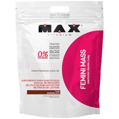 Femini Mass 2,4Kg - Chocolate - Max Titanium