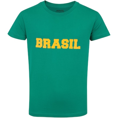 Camiseta do Brasil Fan 2018 nº 10 Adams - Infantil