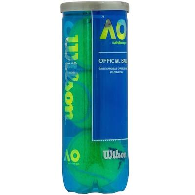 Kit de Bolas de Tênis Wilson Australian Open com 3 Unidades