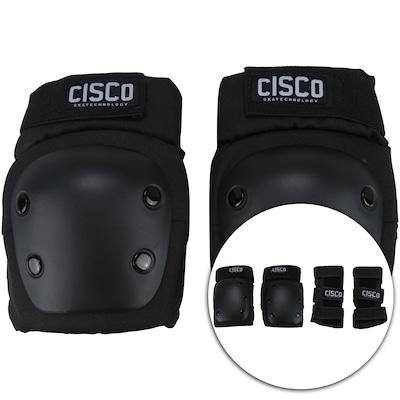 Kit de Proteção Cisco com Munhequeira + Joelheira + Cotoveleira - Adulto