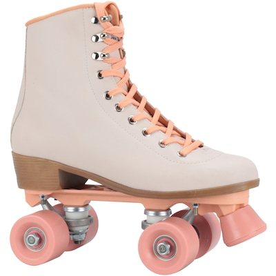 Patins 4 Rodas Retrô Oxer Love - Quad - Adulto