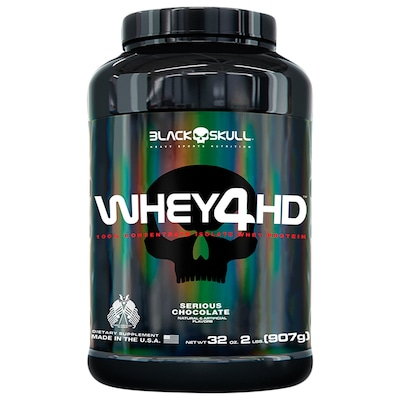 Whey 4HD 907g - Chocolate - Black Skull