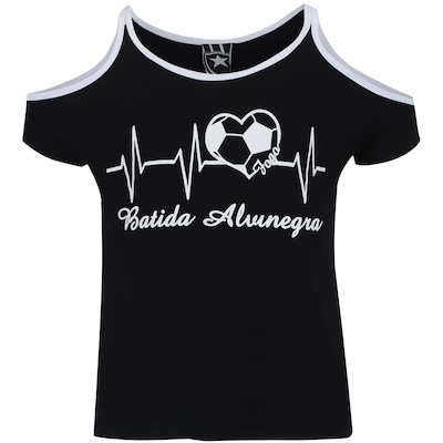 Camiseta do Botafogo Beat Feminina - Infantil