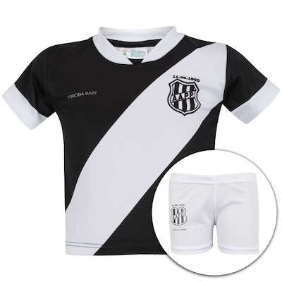 a8136b728f Kit de Uniforme de Futebol da Ponte Preta para Bebê  Camisa + Calção -  Infantil