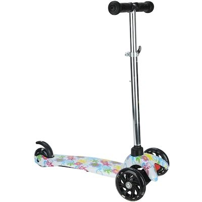 Patinete 3 Rodas Spin Roller Estampa Girl com Luzes de Led - Feminino - Infantil