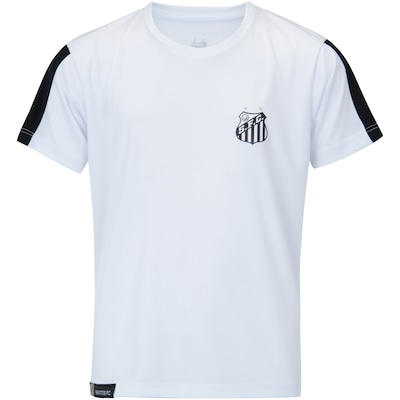 Camiseta do Santos Manga Meltex - Infantil