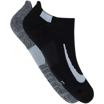 Kit de Meias Sapatilha Nike Multiplier No Show com 2 Pares - Adulto