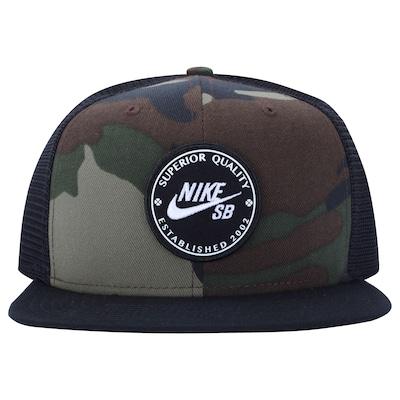 Boné Aba Reta Nike SB Patch - Snapback - Trucker - Adulto 9370edd48a7