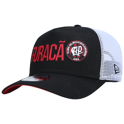Boné Aba Curva do Atlético-PR New Era 940 Big Art - Snapback - Trucker - Adulto
