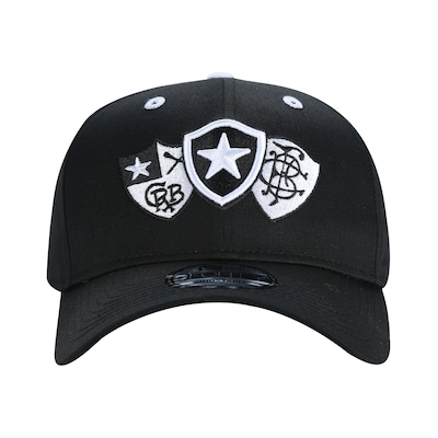 Boné Aba Curva do Botafogo New Era 940 Escudos Retrô - Snapback - Adulto