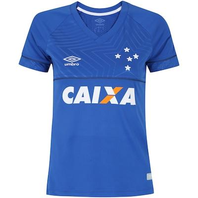 Camisa do Cruzeiro I 2018 Umbro com Patrocínio - Feminina 74f6f0f451630