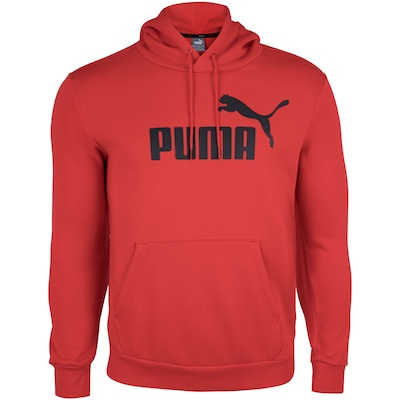 Blusão de Moletom com Capuz Puma Ess Hoody FL Big Logo - Masculino