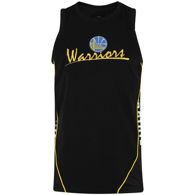 Camiseta Regata New Era Golden State Warriors Piping V Cut - Masculina