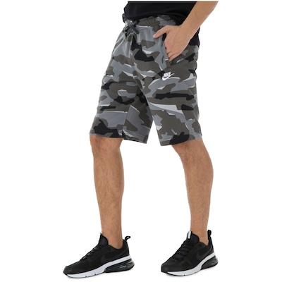 Bermuda de Moletom Nike Camo FT - Masculina