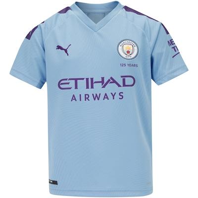 Camisa Manchester City I 19/20 Puma - Infantil