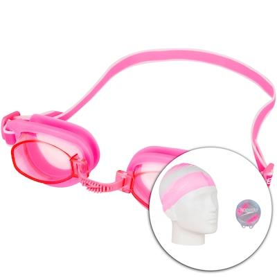 Kit de Natação Speedo Swim com Óculos + Touca + Protetor de Ouvido - Adulto