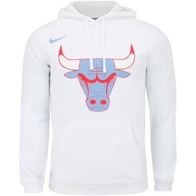 Blusão de Moletom com Capuz Nike NBA Chicago Bulls Logo PO FLC - Masculino