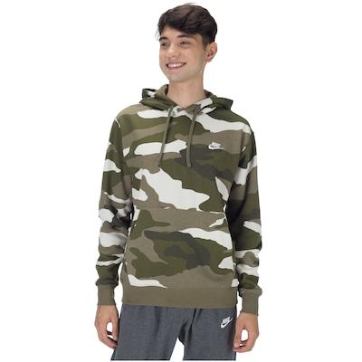 Blusão de Moletom com Capuz Nike Hoodie PO BB Camo - Masculino