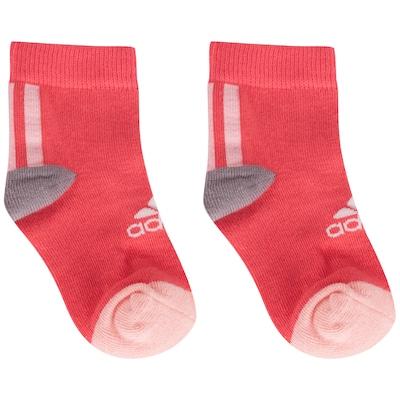 Kit de Meias adidas LK Ankle com 3 Pares - 20 a 22 - Infantil