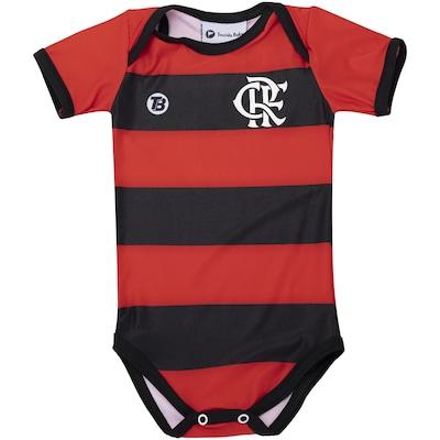 Body do Flamengo Listrado 033XS Torcida Baby - Infantil