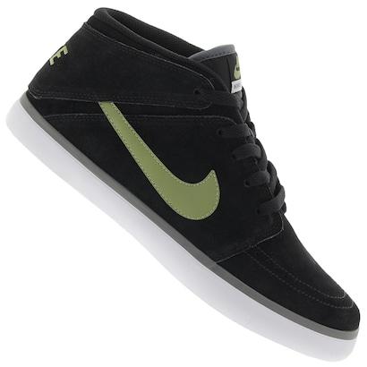 19f56ee97e ... Tênis Nike Suketo Mid Leather - Masculino-PRETO VERDE. Passe o mouse  para ver o Zoom