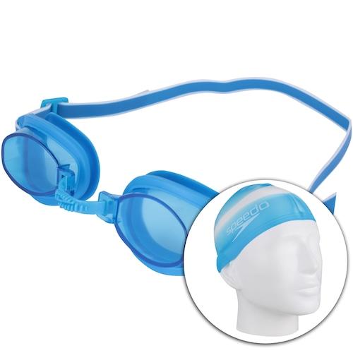 5ab8528bf Kit de Natação Speedo Swim 3.0 com Óculos + Touca + Protetor de Ouvido -  Adulto - ROSA