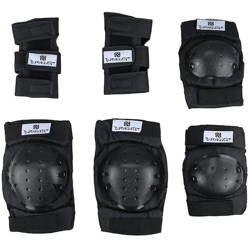 539f8a847 Kit Proteção Long Jump Bob Burnquist com 1 Par de  Munhequeiras + Joelheiras  + Cotoveleiras - Adulto