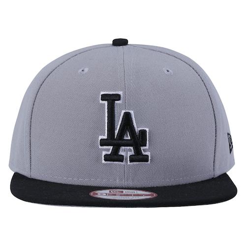 Boné Aba Reta New Era Los Angeles Dodgers - Cinza e Preto 6ed78ff908c