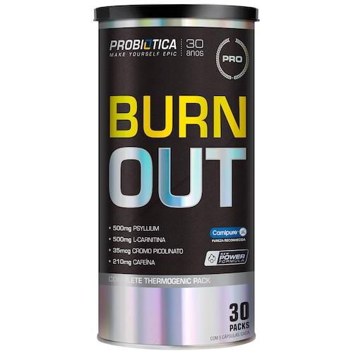 1fe712deb67a9 Pack de Termogênico Probiótica Burn Out Black - 30 Packs