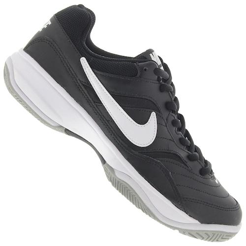 b32b09f8f Tênis Nike Court Lite - Masculino - PRETO/BRANCO | Menor preço com cupom