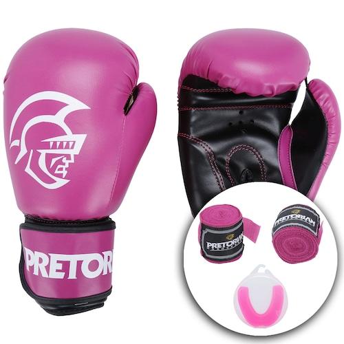 b0a93cf35 Menor preço em Kit de Boxe Pretorian  Bandagem + Protetor Bucal + Luvas de  Boxe