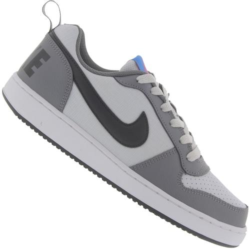 6dd47f4177d Tênis Nike Court Borough Low - Infantil - PRETO CINZA CLARO