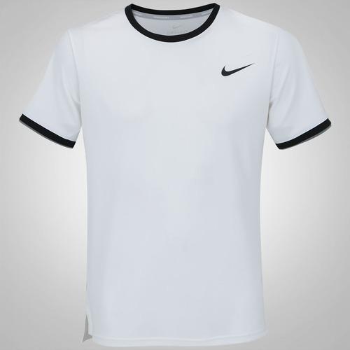 1a046af1a6 Menor preço em Camiseta Nike Court Dry Top Team - Masculina - BRANCO PRETO