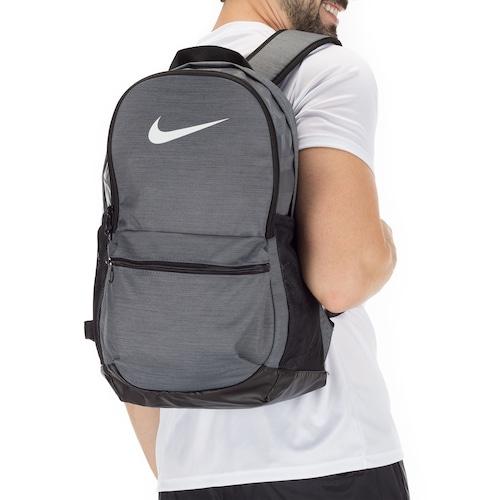 92468f004 Mochila Nike Brasilia Backpack M - 24 Litros - CINZA   Menor preço ...