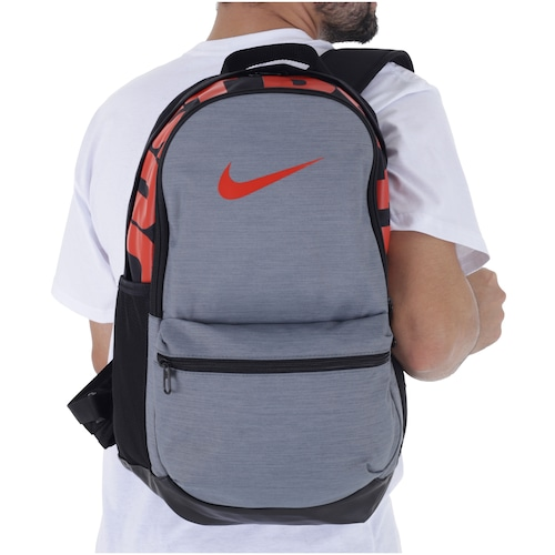 068a68d8b Mochila Nike Brasilia Backpack M - 24 Litros - CINZA/PRETO   Menor ...