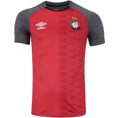 Camisa do Atlético-PR Aquecimento 2018 Umbro - Masculina 2659760509021