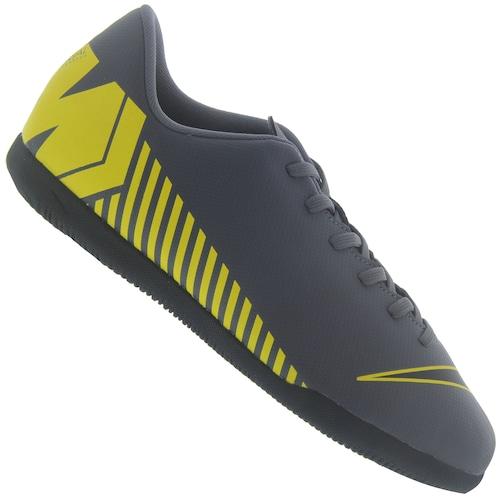 c428c857b3 Menor preço em Chuteira Futsal Nike Mercurial Vapor X 12 Club GS IC -  Infantil - CINZA ESCURO AMARELO
