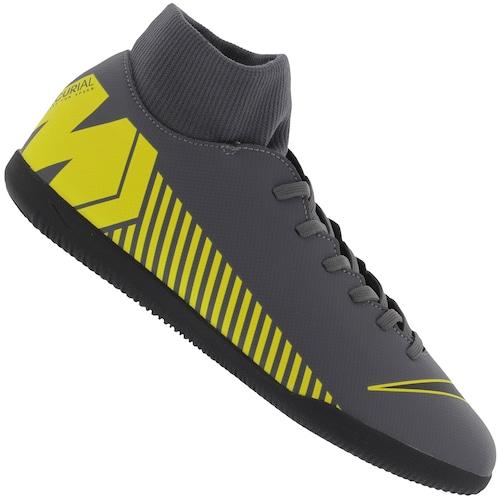 dbb2d1f11 Chuteira Futsal Nike Mercurial Superfly X 6 Club IC - Adulto - PRETO OURO